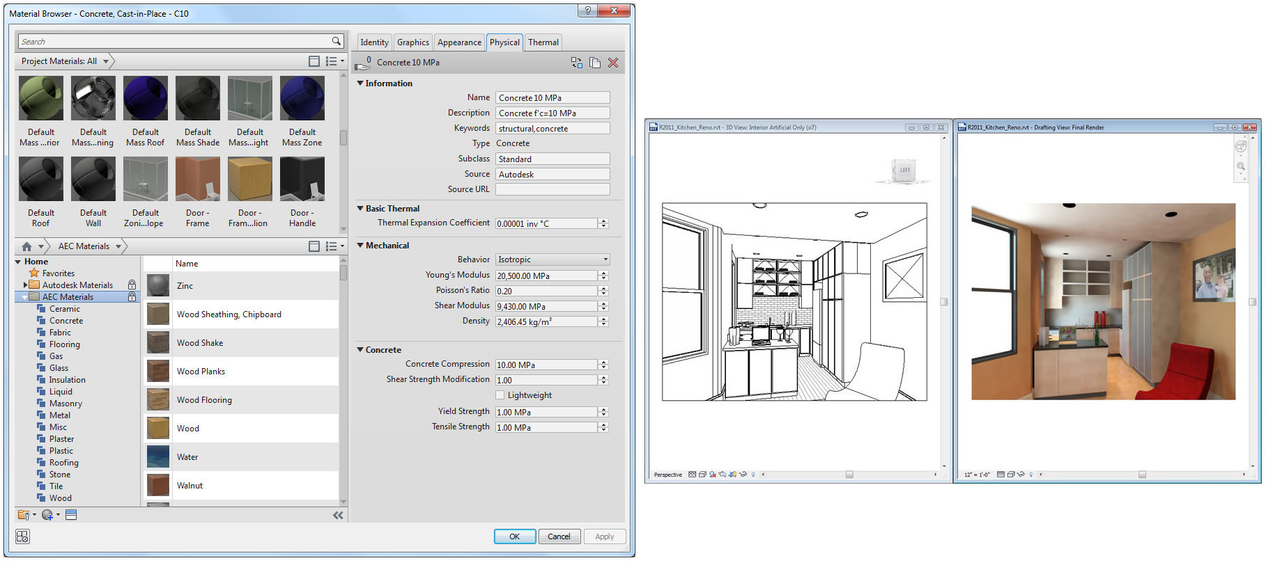 Revit 2014 -Materials UI Enhancements - CAD Services Limited